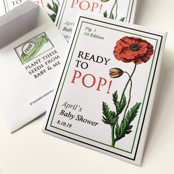 Baby Shower Poppy-Favors™ - READY TO POP!
