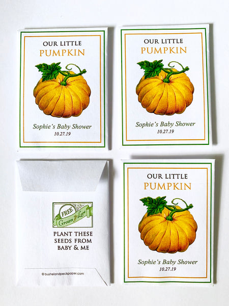 Baby Shower Seed-Favors™ - OUR LITTLE PUMPKIN