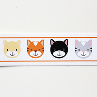 Custom Vinyl ID Bands - Set of 12 Kitty Bracelets