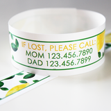 Custom Vinyl ID Bands - Set of 12 Lemon Bracelets