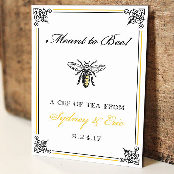 Par-Tea Favors™ - MEANT TO BEE Wedding