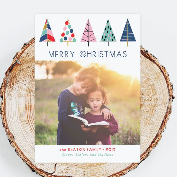 Holiday Photo Cards - Mod Tree