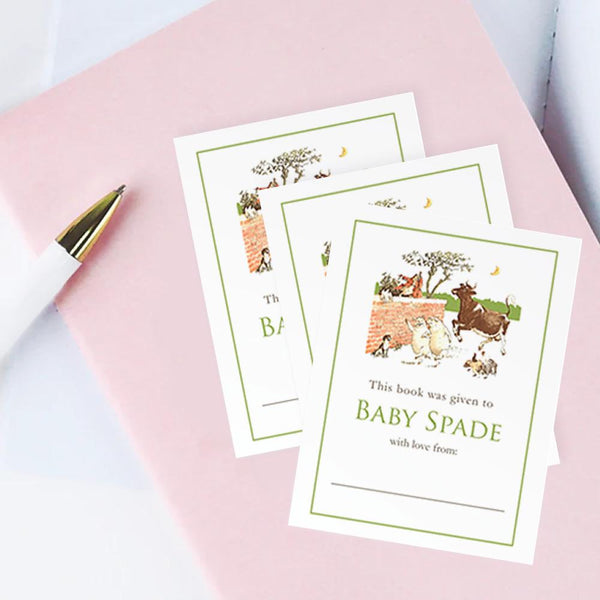 Custom Bookplates - Set of 12 Personalized Nursery Rhyme Book Labels