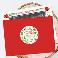 "Holiday Address Labels - 2"" Poinsettia"