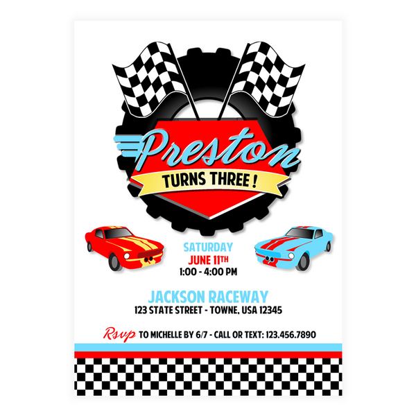 Race Car Invitations