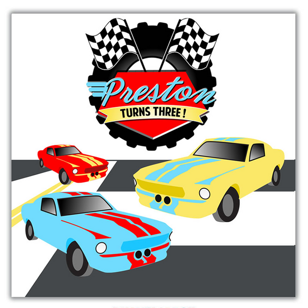 Race Car Backdrop Banner File