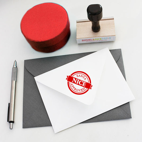 SANTA'S APPROVAL - Holiday NICE Rubber Stamp
