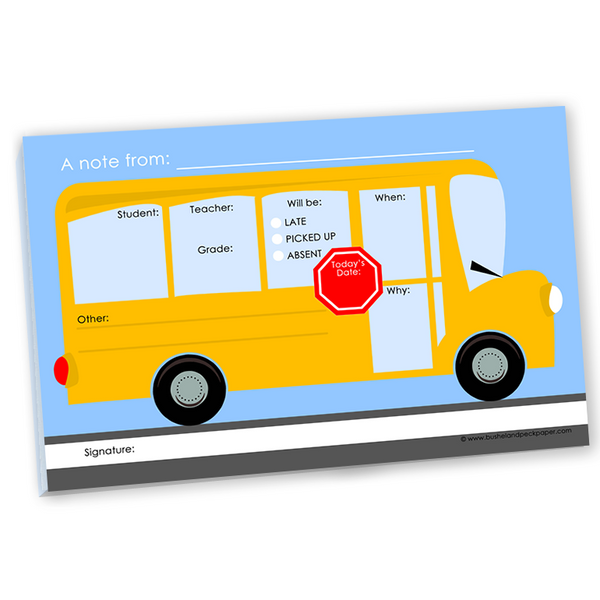 Note Pad : School Bus Notepad