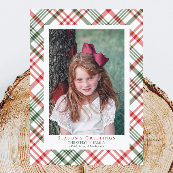 Holiday Photo Cards - Plaid Season's Greetings