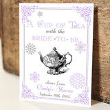 Par-Tea Favors™ - SNOWFLAKE Wedding