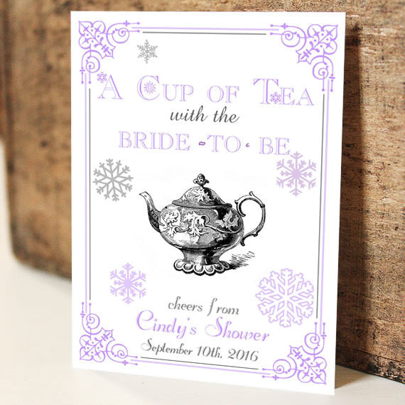 Par-Tea Favors™ - SNOWFLAKES Bridal
