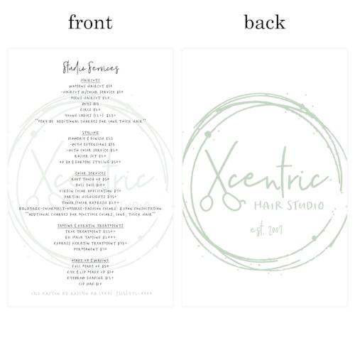 Xcentric Hair Studio Re-Order