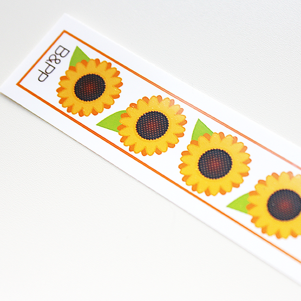 Custom Vinyl ID Bands - Set of 12 Sunflowers Bracelets