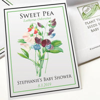 Baby Shower Seed-Favors™ - SWEET PEA SEED PACKET FAVORS