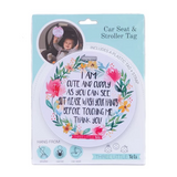 CAR SEAT / STROLLER TAG - CUTE NO TOUCHING
