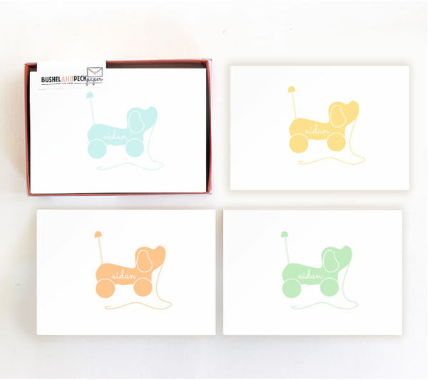 Note Cards : Puppy Pull Toy