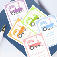 Custom Bookplates - Set of 12 Personalized Train Book Labels