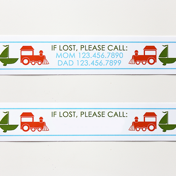 Custom Vinyl ID Bands - Set of 12 Transportation Bracelets