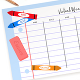 Weekly Planner Pad - Virtual School Organizer