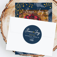 "Holiday Address Labels - 2"" Winter Pine"