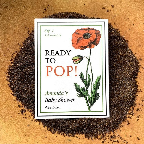 Baby Shower Poppy-Favors™ - READY TO POP! SEED PACKET FAVORS