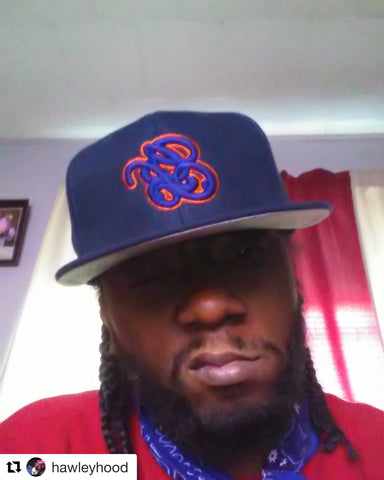Navy Orange GB Snapback