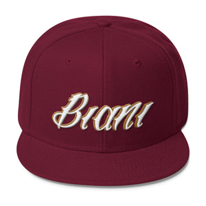 White and gold lettering Snapbacks