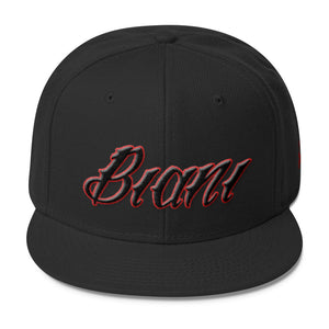 Black and Red lettering Snapbacks