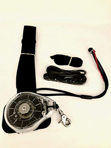 "Oceanus Technologies SUP/Foil Reel Leash with Quick Release Adjustable Waist Belt Size Small 28""- 32"""