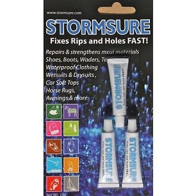 Stormsure clear repair adhesive glue 3 5g bottles to repair flexible material