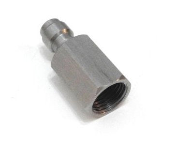 "Paintball PCP Stainless Steel 8mm Quick Disconnect Coupler Male Plug 1/8"" NPT"