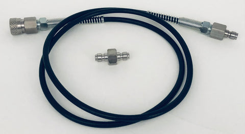 "6000psi 40"" Mircrobore Hose AND Foster Stainless Steel Male/Male Connector"