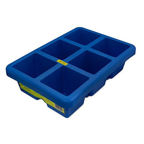 Big Ice Trays 4'' Cubes - 10 Lbs Per Tray - Perfect for Fishing, Outdoors, Pets, & More