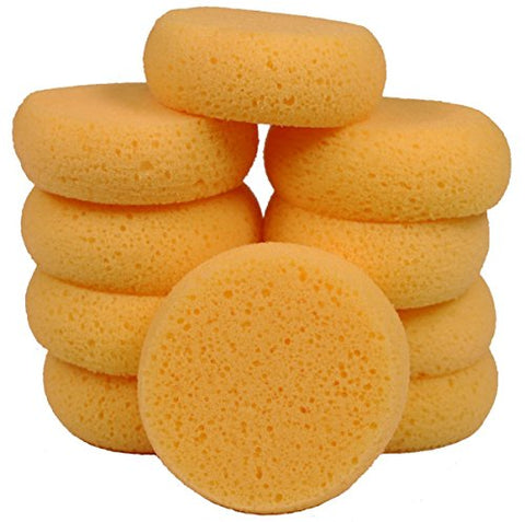 3.5  Inch Round Synthetic Silk Sponges for Painting, Crafts, Ceramics, Household Use & More! Pack of 10 Sponges