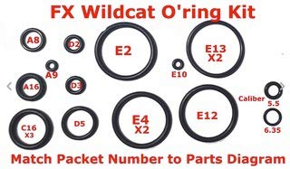OutdoorGearPlace FX Wildcat O-Ring Kit with O-Ring Pick Tool, O-Ring Lube and OGP Microfiber Tool