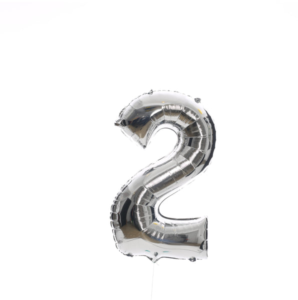 All Silver Numbers - BALLOON STAND