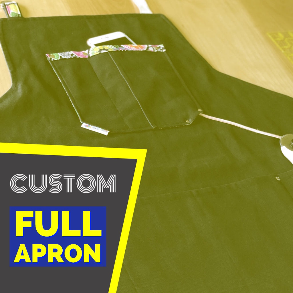 Custom Artisan Apron w/ Fabric Shipped