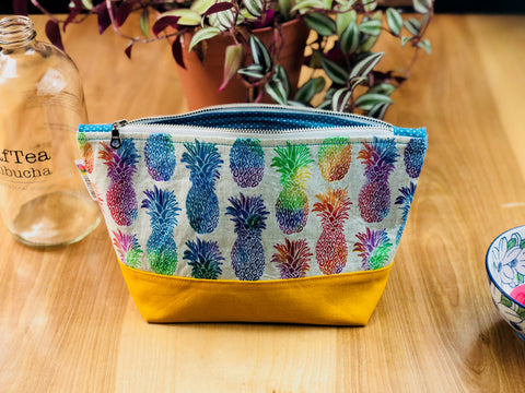 Rainbow Pineapples Boxed Zipper Pouch - Logically Unique
