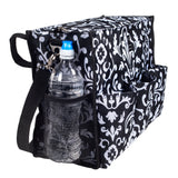 Black Paisley Wheelchair utitlity bag