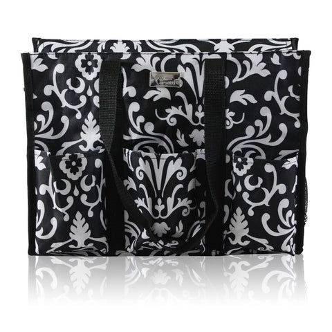 Pursetti black paisley teachers tote