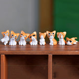 8 PIECES MINIATURE CAT HOME DECOR