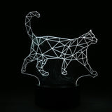 3D WALKING CAT LED LAMP