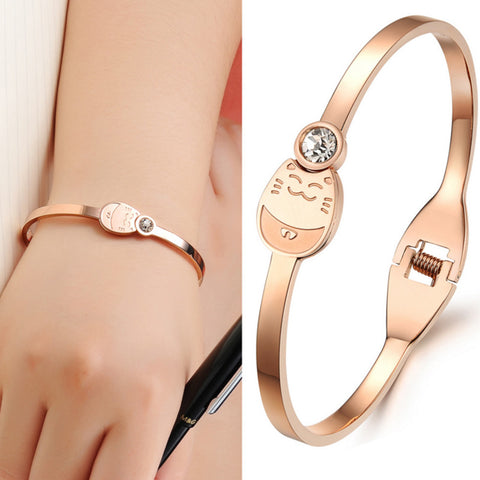 Lucky Japanese Cat Bangle