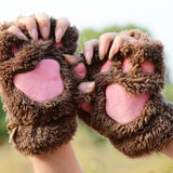 LOVELY CAT PLUSH PAW GLOVES FREE