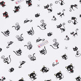 3D CAT NAIL ART STICKER SHEET