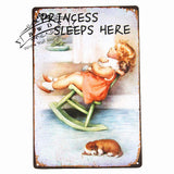 Cat & Dog Lovers Tin-Plate Signs