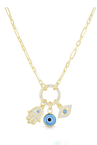 Triple Eye Necklace