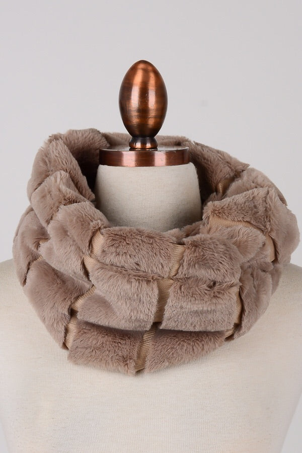 product scarf com fur annakastle fluffy wine infinity womens neck faux warmer