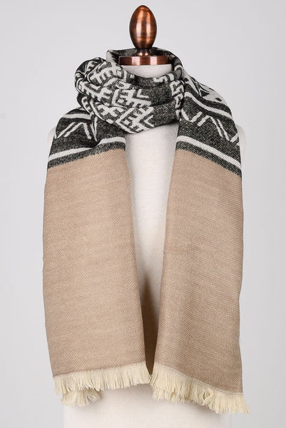 Tribal Print Open Scarf