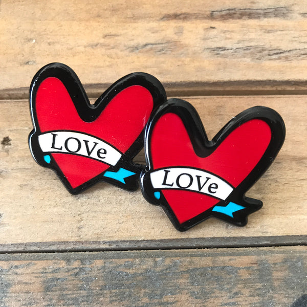 Heart Patch Earrings